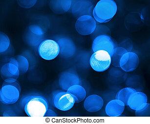 blue bokeh - blur lights