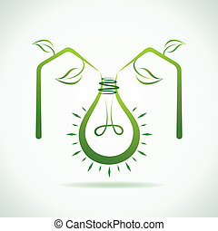 Abstract eco bulb make a eco home s
