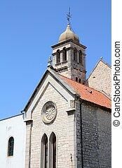 Sibenik - Croatia - Sibenik in Dalmatia. Old religious...