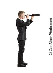 Look for the future - Concept of businessman that look for...
