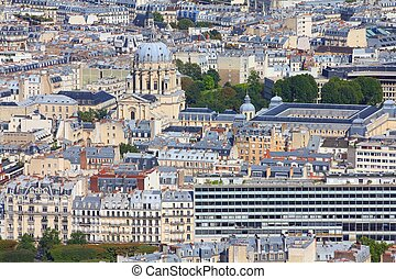 Paris, France - aerial city view with Church of...
