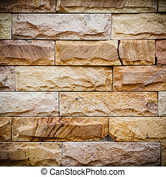 Texture of brick wall with vignette