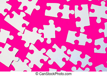 Puzzle Pieces On Pink