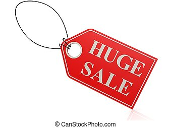 Huge sale label - Rendered artwork with white background