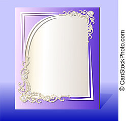 frame for photo with precious stones - illustration frame...