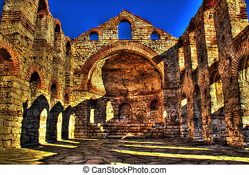 Old temple ruins - Nessebar old town - Bulgaria