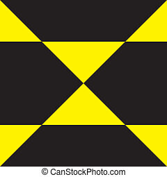 Black and Yellow abstract double pointer background element