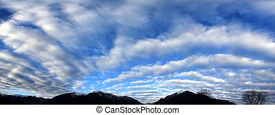 Stratocumulus on Tibet, China - a Panorama of Stratocumulus...