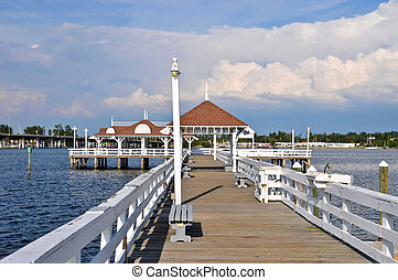 Bradenton Beach Historic Pier on Anna Maria Island, Florida