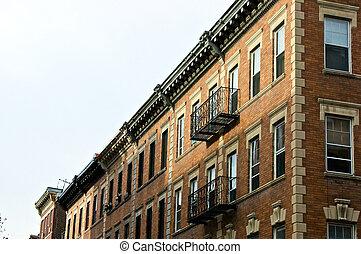 brownstones - boston brownstone apartment buildings in...