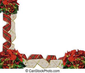 ボーダー, リボン, クリスマス