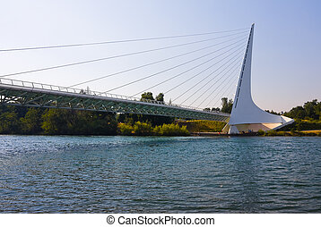 Sundial Bridge - Famous Sundial Bridge in Redding California...