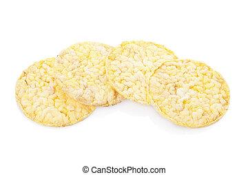 Corn diet crackers
