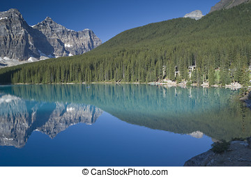 Banff National Park Lake Moraine - Lake Moraine in Banff...