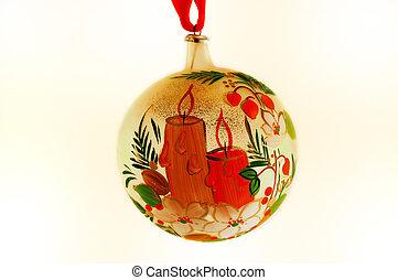 Christmas - Hand painted gall christmas ball (ornament tree)