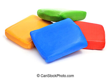 rolled fondant - bars of rolled fondant of different colors...