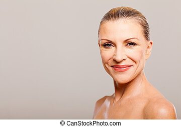 middle aged woman happy - portrait of middle aged woman...