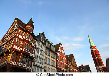 Old town in Frankfurt am Main - The old town in Frankfurt am...