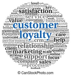 Customer loyalty concept on white - Customer loyalty concept...