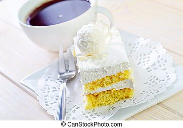 Cake with coffee