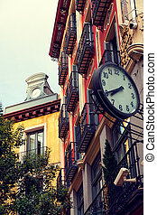 Classic Architecture in Postas Street, Madrid, Spain