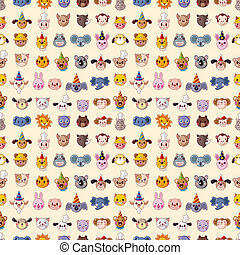 seamless animal head pattern