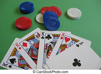 Four of a Kind - Poker Hand - Four of a Kind Hand in a Poker...