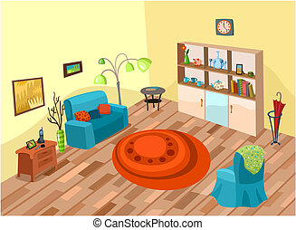 room - vector illustration of a cute room