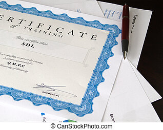 Certificate and other documents - Certificate and Business...