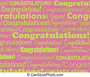 Congratulations - Grouped collection of different...