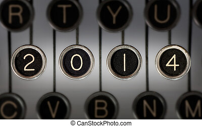 Vintage 2014 Stories - Image of old typewriter keyboard with...