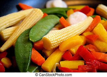 Frozen Vegetables - Assortment of oriental style frozen...