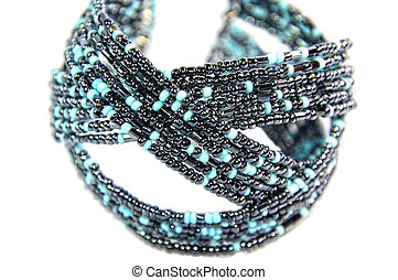 Black and Turquoise Beaded Jewelry - Black and other beads...
