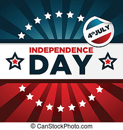 Patriotic Independence Day Banner - Patriotic banner with...