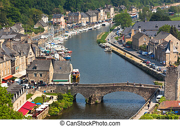 Dinan, Brittany, France - Ancient town on the river - Dinan...