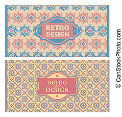 Set of card in retro style. Great for invitations and...