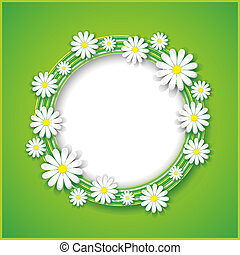 Abstract spring or summer background with flower - Spring or...