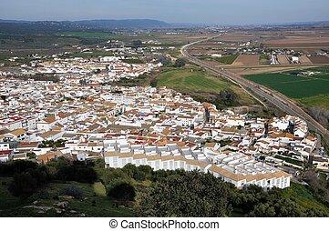 cidade,  almodovar,  Andalusia,  del, Espanha,  Rio