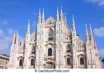 Milan cathedral, Italy - Cathedral of Milan. Catholic church...