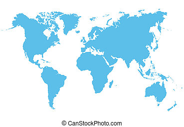 world Map - Detailed vector map of the world on a white...