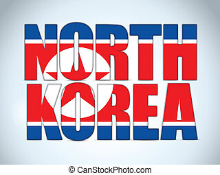 North Korea Country Letter Background - Vector - North Korea...