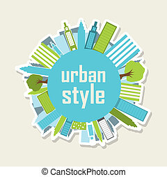 urban style over beige background. vector illustration