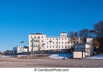Building on shore of the Baltic Sea in Heiligendamm...