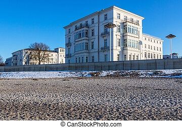 Building on shore of the Baltic Sea in Heiligendamm Germany...