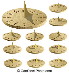 Sundial Measure time by the sun Vector illustration