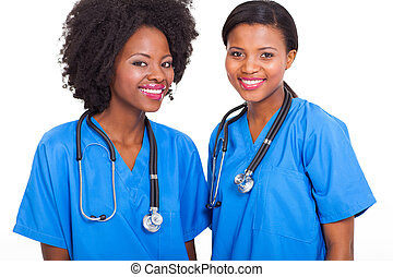afro american interns nurses - beautiful afro american...