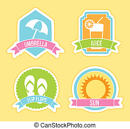 summer icons over yellow background vector illustration