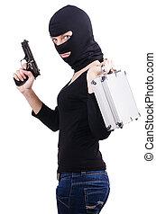 白色, 犯罪, 槍, 被隔离