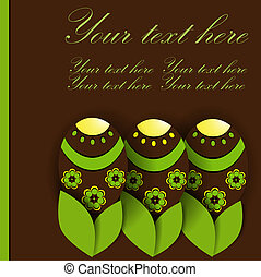 Creative postcard with easter eggs - Postcard with easter...