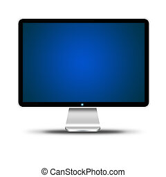 computer display isolated over white background